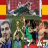 Best goalkeeper Iker Casillas of the Football World Cup 2010 Puzzle Online Action game