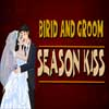 Bride and Groom Season Kiss