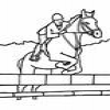 Coloring Equestrian sports 1 Online Miscellaneous game
