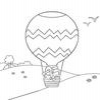 Coloring Hot air ballons 1 Online Miscellaneous game