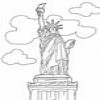 Coloring Monuments America 1 Statue of Liberty Online Miscellaneous game