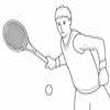 Coloring Racquet sports 1 Tennis Online Miscellaneous game