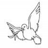 Coloring Religion 1 Dove of Peace Online Miscellaneous game