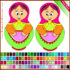 Doll Coloring Online Miscellaneous game