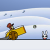 Kill The Wabbits Winter Edition Online Puzzle game