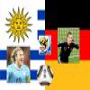 Match for the 3rd place 2010 World Cup Uruguay vs Germany Puzzle Online Puzzle game