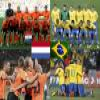 Nederland Brasil, quarter finals, South Africa 2010 Puzzle Online Puzzle game