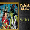 Puzzle Mania She Hulk Online Puzzle game