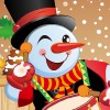 The Funny Snowman Dress Up Online Puzzle game