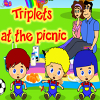 Triplets at the picnic Online Miscellaneous game