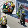 Valentino Rossi new helmet puzzle Online Action game